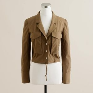 J.Crew Cropped Commodore Top Gun Drawstring Blazer