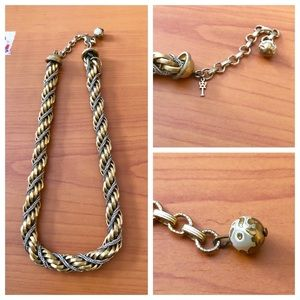 Vintage Crown Trifari Braided Thick Necklace