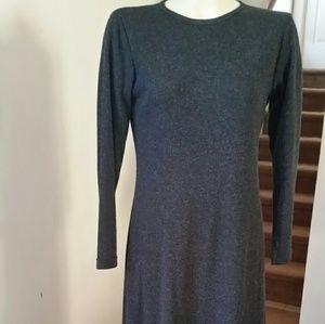 Gray full length dress