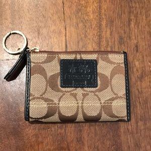 Coach mini wallet/key ring