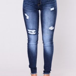 Fashion Nova Elyse Distressed Skinny Jeans