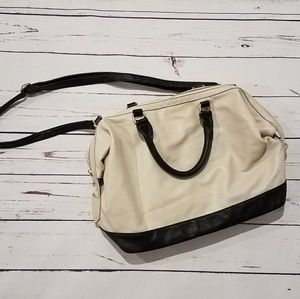 Forever 21 Black & Cream Crossbody Bag