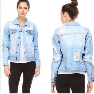 Jackets & Blazers - Denim Distressed Jacket