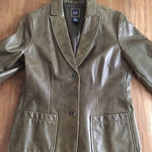 Gap genuine leather jacket