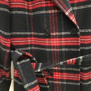 Vintage Pendleton Plaid Tartan Wool Coat Jacket