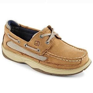 Sperry Top Sider Boys Lanyard Boat Shoes 4M