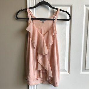 Charlotte Russe Blush Pink Ruffled Tank Blouse