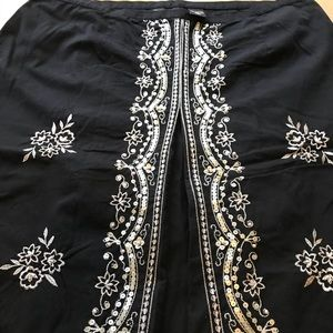New York & Co embellished Aline skirt