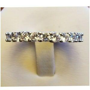 Jewelry - Genuine White Sapphire Eternity Ring Size 7.25