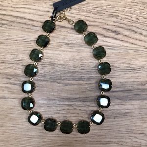 J Crew Green Stone Statement Necklace