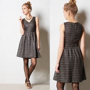 ANTHROPOLOGIE glissade shimmer dress size 8