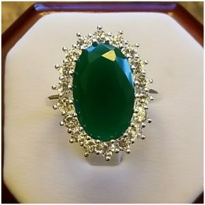 Genuine Natural Emerald Ring Size 7 & 10