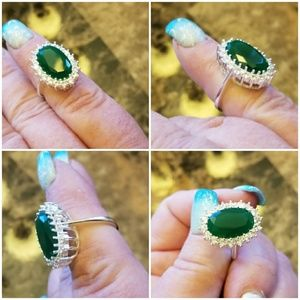 Jewelry - Genuine Natural Emerald Ring Size 7 & 10