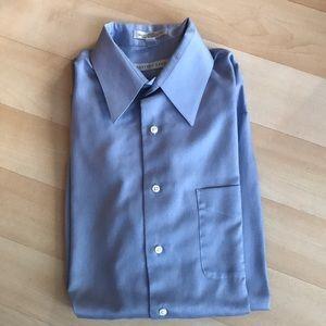 Blue Geoffrey Beene sateen dress shirt