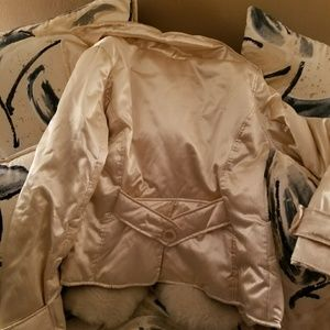 Tan and white Women's Look of Shimmer Jacket