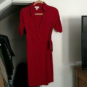 Loft Ann Taylor red dress