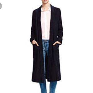 The Koople Black Coat. Size 34. NWT. Black, Long.