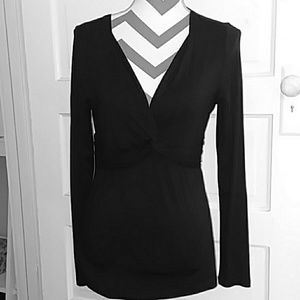 NWT LOFT Black Long Sleeve Top
