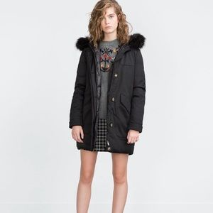 Zara Long quilted parka