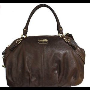 Brown leather Coach satchel