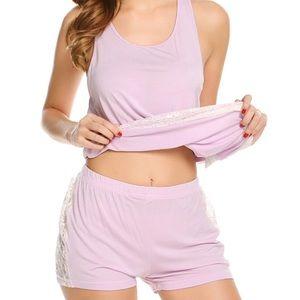NEW lace sleepwear set (pink)