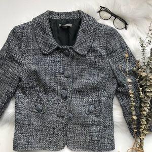 Ann Taylor Tweed Cropped Blazer