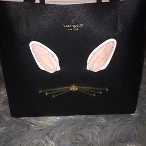 Kate Spade black leather Hop to it tote