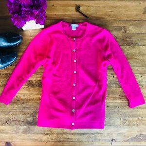 Ann Taylor Pink Cashmere Cardigan Sweater Sz S