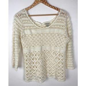 Lucky Brand Crochet Top