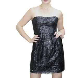 BCBG NWT Carole Sequin Dress in Black