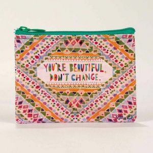 """NWT Coin Purse 🌈 """"You're Beautiful Don't Change"""""""