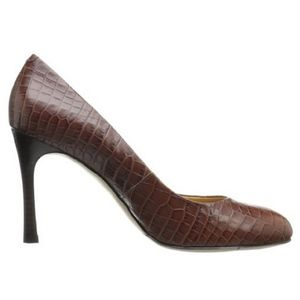 Nine West Drusilla Pump in Brown Croco