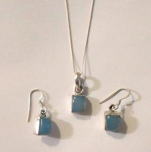 Vintage Sterling Necklace & Earrings Set