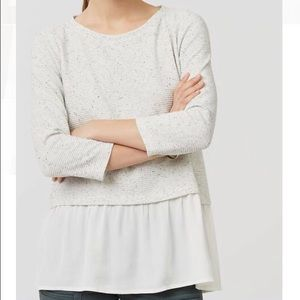 Loft Flocked Two-in-One Sweater