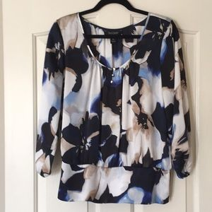 WHBM floral blouse, Size XL