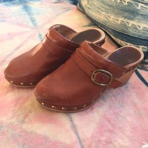 Isabel Marant Clogs saddle brown/cognac leather