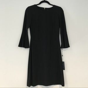 Black bell sleeve cocktail dress by Tommy Hilfiger