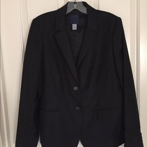 J Crew black suit- blazer and trousers