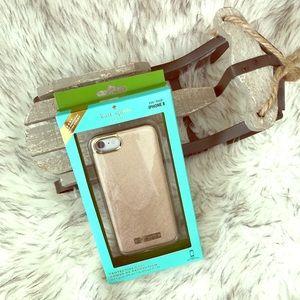 NIB Kate Spade Saffiano Rose Gold IPhone 7/8 Case