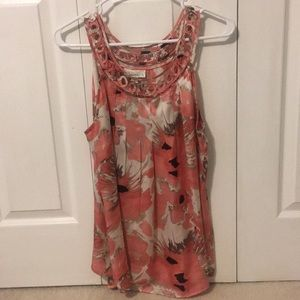 Floral Tank Top with Detailed Straps - Dress Barn