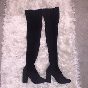 Shoes - Brand New! Over the knee suede boots - Never Worn