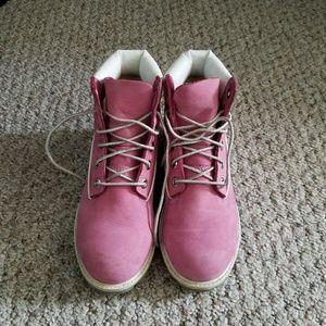 Pink Timberland