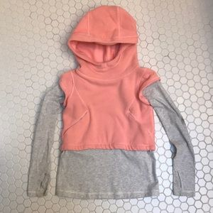 Ivivva girls layered sweatshirt