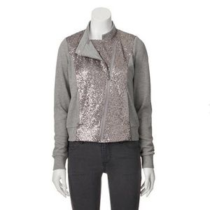 Juicy Couture French Terry & Sequin Jacket, sz. XS