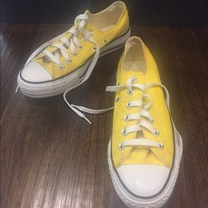 Yellow converse tennis shoes used
