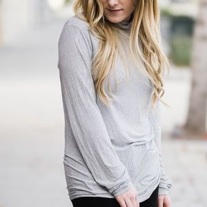Zara Turtleneck Striped Knit