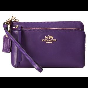 Authentic Coach Wristlet (Dark Purple)