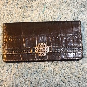 Brighton checkbook wallet with credit card slots