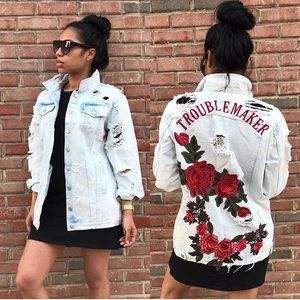 Trouble Maker Denium Jean Jacket