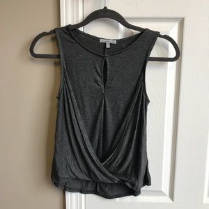 NWT Charlotte Russe Dark Gray Tank Top Blouse